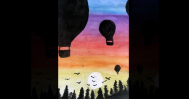 45 Minute Hot Air Ballon Scenery Painting