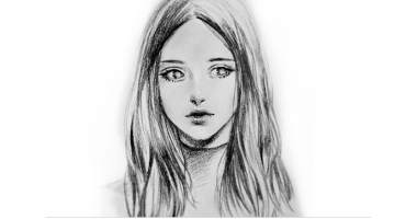 60min Sketching Art Lesson - Portrait of a Girl