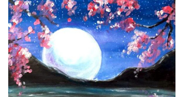 45 Minute Night By The Moon Painting