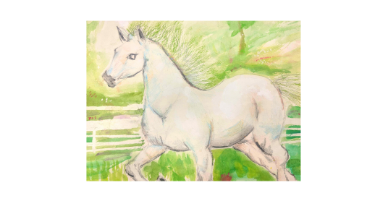 60min Drawing Lesson: White Horse
