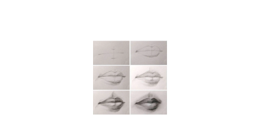 60min Drawing Lesson: Lips Sketching