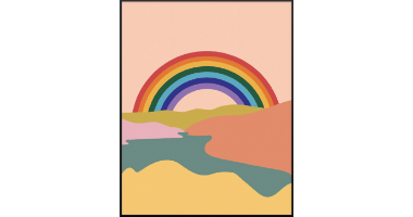 60min Drawing Lesson: Abstract Rainbow Scenery