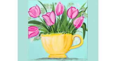 60min Drawing Lesson: Tulip Painting