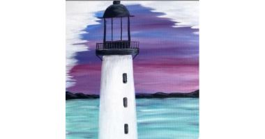 60min Drawing Lesson: Lighthouse Painting Scenery