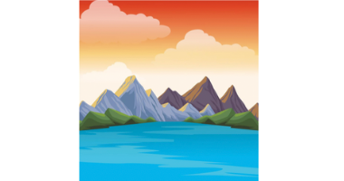 60min Drawing Lesson: Mountain Scenery