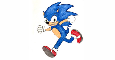 60min Drawing Lesson: Blue Sonic Character
