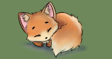 Digital Art Lesson: Learn to Draw a Baby Fox